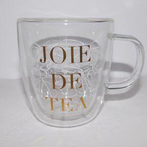 Indigo JOIE DE TEA Clear Gold Floral Mug